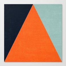 mod triangles - autumn Canvas Print