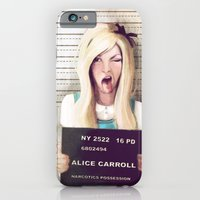 alice in wonderland iPhone & iPod Cases featuring Alice by adroverart