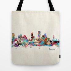 Sacramento California skyline Tote Bag