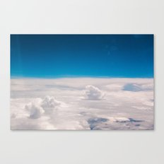 Blue and White at the sky Canvas Print