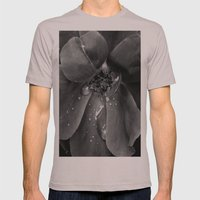 B&W flower Mens Fitted Tee Cinder SMALL
