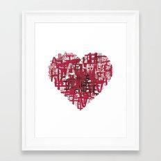 Love to hate. Framed Art Print