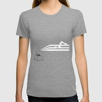 Swimming In Sound Womens Fitted Tee Tri-Grey SMALL