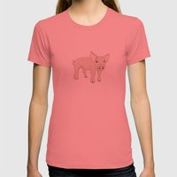 Steve Womens Fitted Tee Pomegranate SMALL