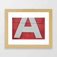 Red A Framed Art Print