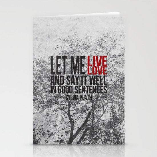 let me live. Stationery Card