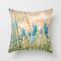 Forest Of Blue Throw Pillow