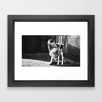 Abby and Gypsy Framed Art Print