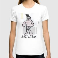 Beefcake Womens Fitted Tee White SMALL