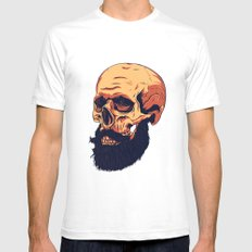Mr. Skull SMALL White Mens Fitted Tee