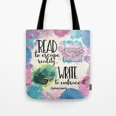 Write To Embrace Design Tote Bag