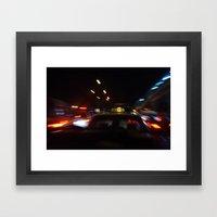 Taxi Space Warp Framed Art Print
