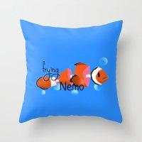 frying nemo Throw Pillow