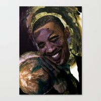 Obama For President Canvas Print