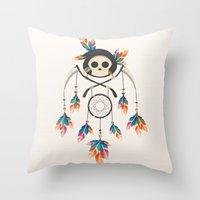 Angel De La Muerte Throw Pillow