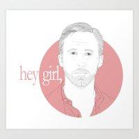 Hey Girl, Art Print