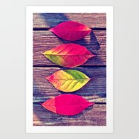 Autumn Leaves - For Ipho… Art Print