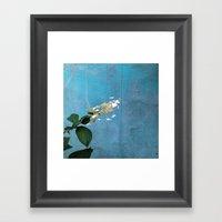 White Hydrangea Framed Art Print