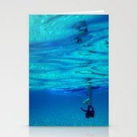 Bottomless Blue Stationery Cards