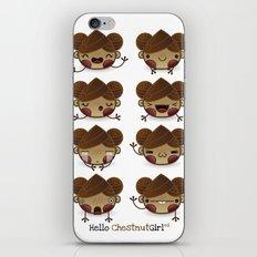 Chestnut Girl Mood iPhone & iPod Skin