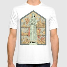 Saint Francis Mens Fitted Tee White SMALL