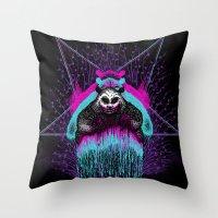 Possessed Panda Throw Pillow