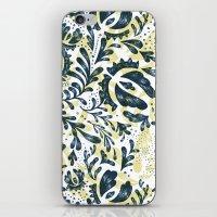 Blue Flowers Pattern iPhone & iPod Skin