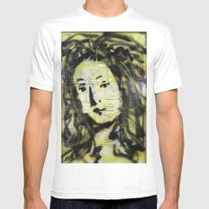 VENUS IN YELLOW Mens Fitted Tee SMALL White
