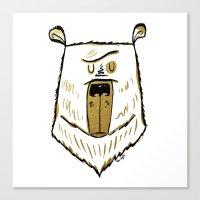 The Golden Bear Canvas Print