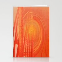 Spiraling Forest Pink Stationery Cards