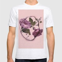 convolvulus and tile Mens Fitted Tee Ash Grey SMALL