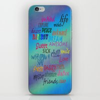 Sweet Awesome Chill iPhone & iPod Skin
