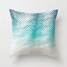 Ocean Chevron Throw Pillow