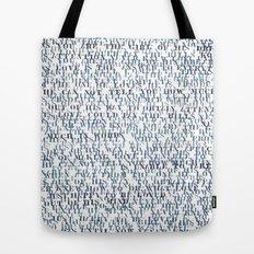Sentences of Love Tote Bag