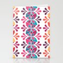 Simple Floral Pattern Stationery Cards