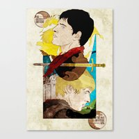 The King And His Sorcero… Canvas Print