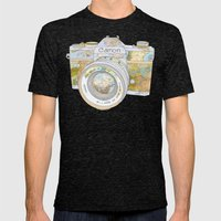 Travel Canon Mens Fitted Tee Tri-Black SMALL