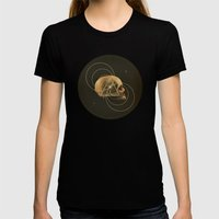 Skull I Womens Fitted Tee Black SMALL