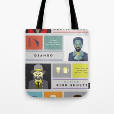 Django Unchained Character Poster Tote Bag