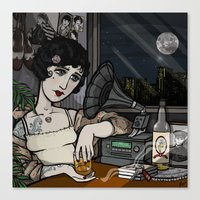 Lonesome Flapper. Canvas Print