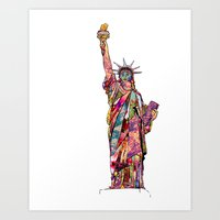 The French Gift: Statue … Art Print