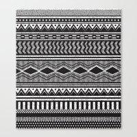 Ethnic Black Canvas Print