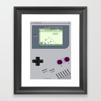 OLD GOOD GAMEBOY Framed Art Print