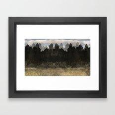 The Indian Ink Peaks 3 Framed Art Print