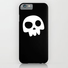 Skull Head logo with Three Teeth | Bones, white, pirates, symbolism, mortality, death, Halloween iPhone 6s Slim Case