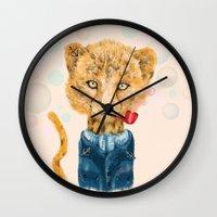 Cheetah Sailor Wall Clock