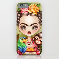 iPhone Cases featuring Frida Querida by Sandra Vargas