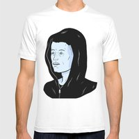 Mr Robot Mens Fitted Tee White SMALL
