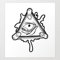 All Seeing Zomb-eye Art Print