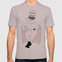 LAZY, BEER AND REMOTE ON… Mens Fitted Tee Cinder SMALL